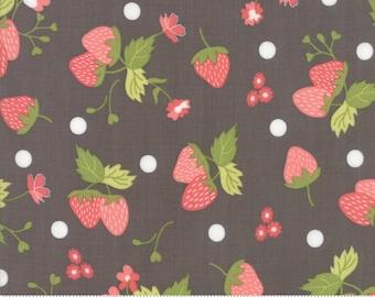 Strawberry Jam Twilight Strawberry Polka Dot by Corey Yoder (Little Miss Shabby) for Moda (29062 12)