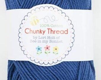 Chunky Thread - Denim - By Lori Holt - 50 g Skein Chunky Thread  - Crochet Thread, Knitting Thread, Crafting Thread