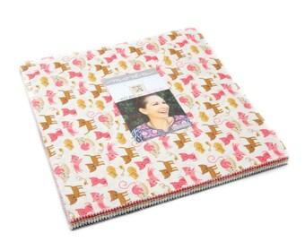 "Layer Cake Woof Woof Meow by Stacy Iest Hsu (20560LC) - Moda Layer Cake - SALE - Animal Fabric Precut 10"" x 10"""
