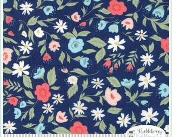Garden Variety (5070 12) Navy Floral Garden Bed by Lella Boutique