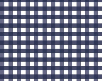 Woven 1/2 inch Gingham in Navy (WC460 NAVY) for Riley Blake Designs - Woven Navy Gingham - Quilting Cotton Fabric