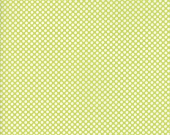 Flannel Green Polka Dot - Bonnie and Camille Vintage Holiday - Flannel Fabric - Green Polka Dot Fabric - Cut Options Available!