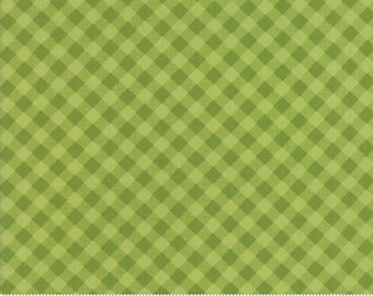 Little Snippets Green Little Bias Gingham by Bonnie & Camille for Moda Fabrics (55186 14)