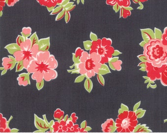 Little Snippets Charcoal Marmalade Floral by Bonnie & Camille for Moda Fabrics (55188 16)