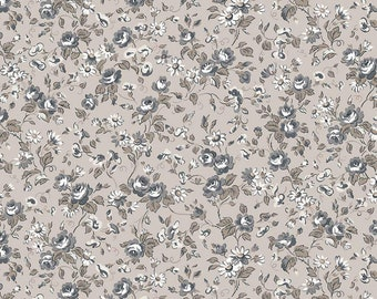 Serenity Taupe Viney Roses by Gerri Robinson for Riley Blake Designs (C8812-TAUPE) - Cut Options Available