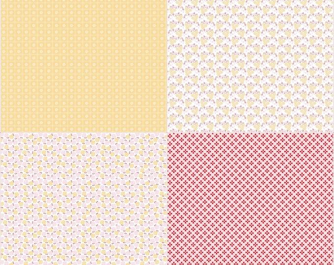 Sew Cherry 2 By Lori Holt Fat Quarter Panel Yellow (FQP5809-Yellow)