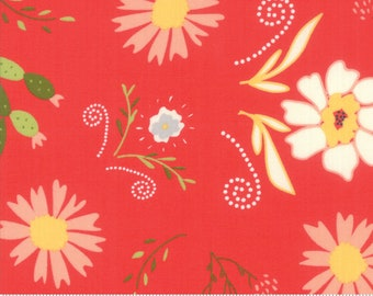 "Walkabout Geranium Desert Garden (37560 14) by Sherri and Chelsi for Moda Fabrics - 29"" remnant"