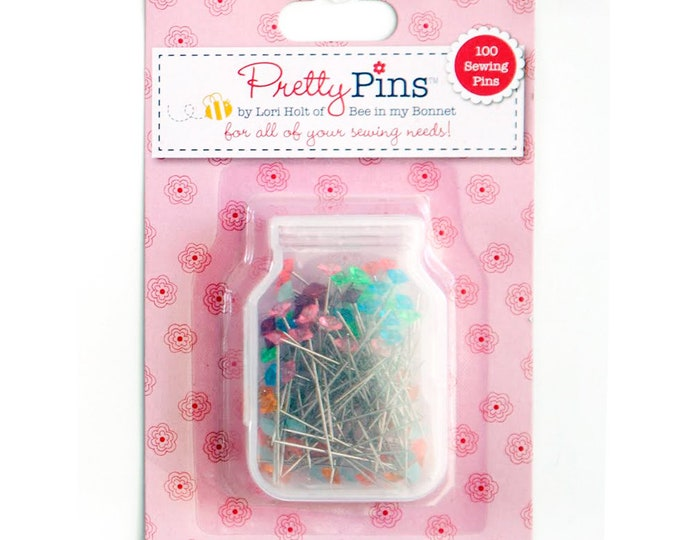 Lori Holt - 100 Sewing Pins 10 Assorted Colors