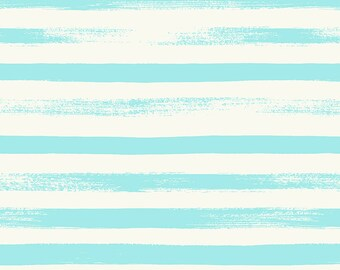 Ruby Star Society Pop Zip Aqua Stripe by Rashida Coleman Hale - Novelty Children's Fabric - (RS1005 11)