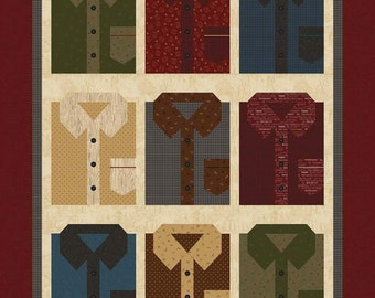 """Channel the Flannel Quilt Pattern for Riley Blake Designs by Buttermilk Basin Design Co. - 40"""" x 49"""""""
