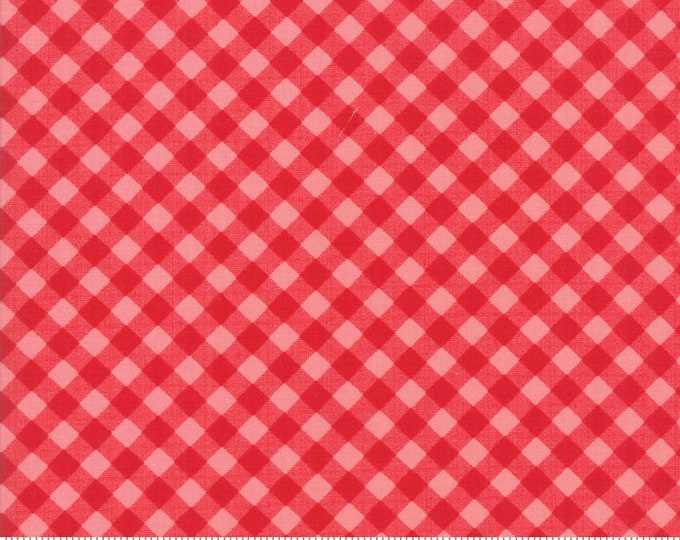 Little Snippets Red Coral Little Bias Gingham by Bonnie & Camille for Moda Fabrics (55186 23)