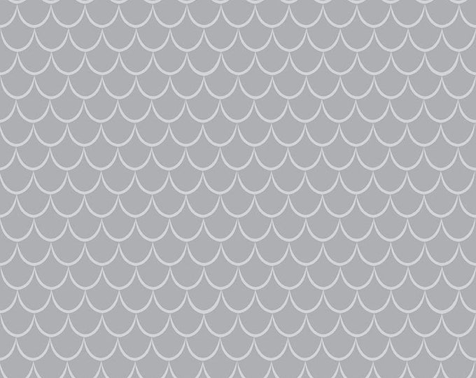 Dragons Scales Gray (C7666-GRAY) by Ben Byrd from Dragons for Riley Blake Designs