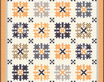 Midnight Crossing Quilt Kit for Moda (KIT20350) - FREE SHIPPING - Fig Tree All Hallows Eve Quilt Kit - Midnight Crossing Pattern