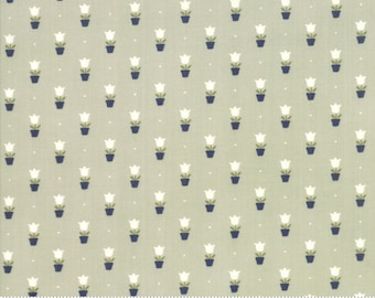 Early Bird Gray Tulips by Bonnie & Camille for Moda Fabrics (55197 14) - Cut Options Available