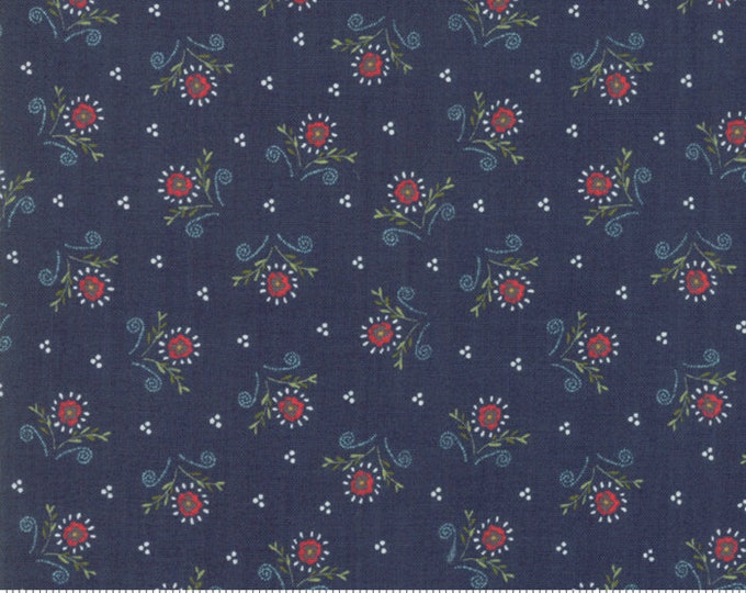 Walkabout Night Sky Dainty Blooms (37564-18) by Sherri and Chelsi for Moda Fabrics
