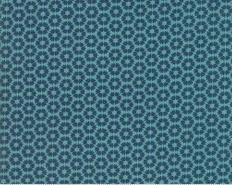 Sunday Supper Teal Table Cloth by Sweetwater for Moda Fabrics  (5654 11)  - 1/2 yard piece