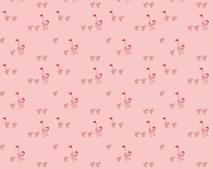 Simple Goodness Pink Chickens by Tasha Noel  (C7933-PINK)