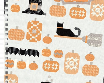 """Witch's Night Out Quilt Pattern by It's Sew Emma (ISE 929) - Finished size: 57.5"""" x 64.5"""""""