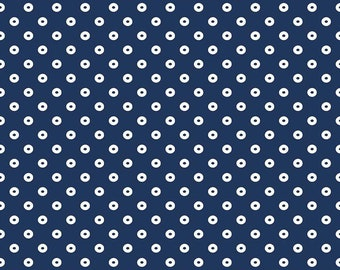 Sugarhouse Park Navy Dot by Amy Smart (Diary of a Quilter) for Riley Blake Designs (C8897-NAVY) Cut Options Available