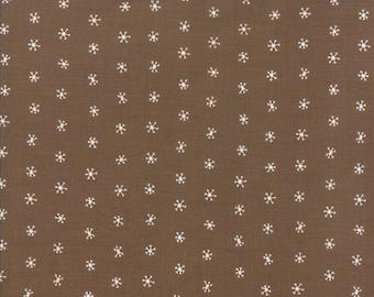 Gingiber Merriment Snowflakes - Cocoa (48275 15) for Moda Fabrics