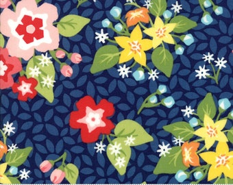 Orchard Blossom - Blueberry - April Rosenthal Orchard for Moda Fabrics (24070 15)