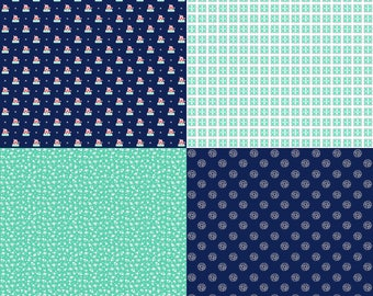 A Little Sweetness by Tasha Noel Fat Quarter Panel (FQP6511-Navy)