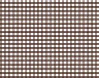 Brown Medium Gingham by Riley Blake Designs (C450 90) - Brown Gingham Fabric