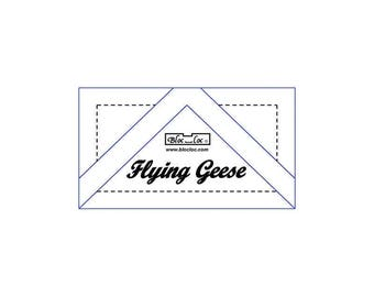 "Bloc Loc - Flying Geese Ruler 5/8"" x 1 1/4"" - Quilting Tool"