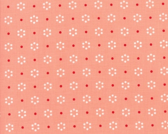 The Good Life Coral Dot by Bonnie & Camille (55152 23)  SALE - Pink Fabric