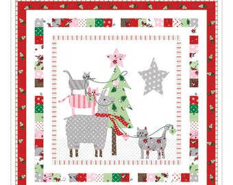 Oh Christmas Tree Mini Quilt Pattern by Bunny Hill Designs (BHD 2143) - Christmas Quilt Pattern - Charm Pack Friendly!