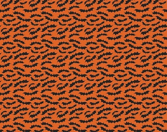 Fab-Boo-Lous Bats - Orange (C8174 ORANGE) SALE Fab-boo-lous by Dani Mogstad for Riley Blake Designs - Halloween Fabric