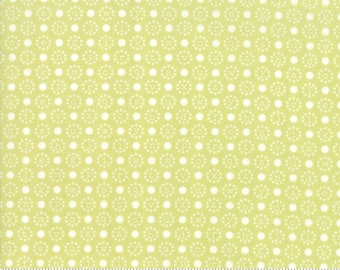 Sugarcreek Pistachio Letter Polka by Corey Yoder (Little Miss Shabby) for Moda (29074 19)