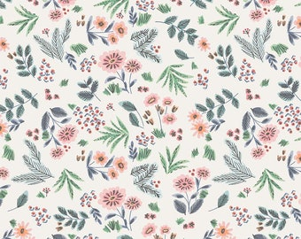 Edie Jane - Floral - Cream (C8181 CREAM) by Deena Rutter for Riley Blake Designs - Girl Fabric  - Cotton Quilting Fabric