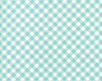 Little Snippets Aqua Little Bias Gingham by Bonnie & Camille for Moda Fabrics (55186 12)