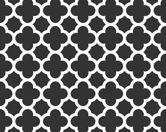 Quatrefoil in Black (C435-110) - Fat Quarter