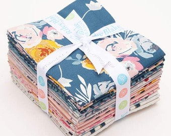 Fat Quarter Bundle Blooms and Bobbins by Melissa Mora - Riley Blake Designs - FQ Bundle  - 15 Fat Quarters