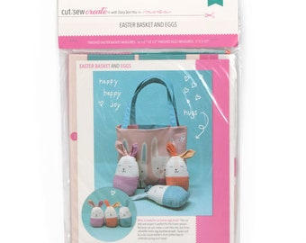 Easter Egg Bag Cut, Sew, Create Panel by Stacy Iest Hsu - Perfect Sewing Projects for Beginners and Children!