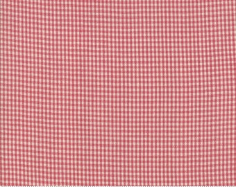 Northport Silky Wovens Red Check by Minick & Simpson for Moda Fabrics  (12215 30) - Patriotic Fabric - Check Fabric