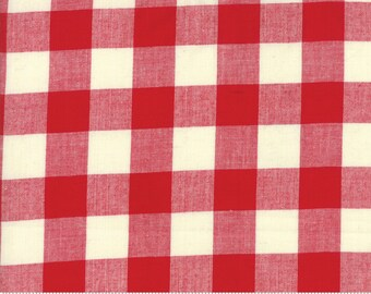 Picnic Basket Red Woven Large Check for Moda Fabrics (12134 11) - Red Woven Gingham Yardage