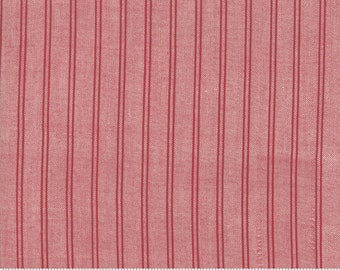 Northport Silky Wovens Red Stripe by Minick & Simpson for Moda Fabrics  (12215 31) - Patriotic Fabric - Check Fabric