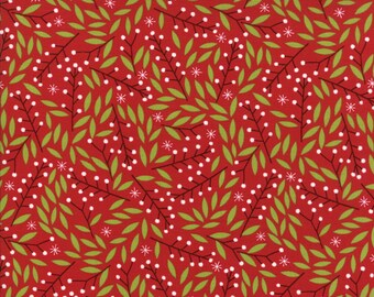 Gingiber Merriment Holly Berries - Berry (48273 12) for Moda Fabrics