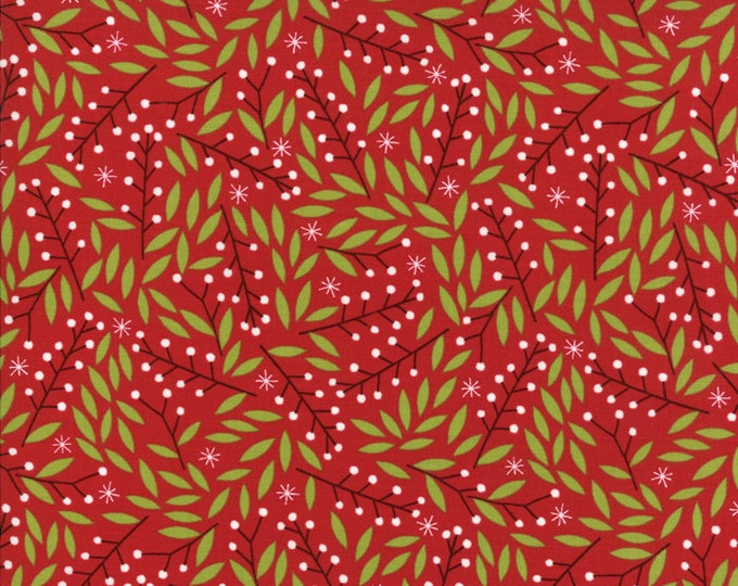 Gingiber Merriment Holly Berries - Berry (48273 12) for Moda Fabrics