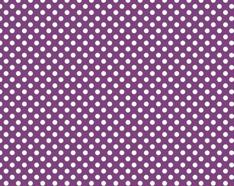 Riley Blake Designs, Small Dots in Purple (C350 125)