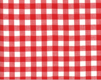 Bonnie and Camille Wovens Red Check for Moda Fabrics  (12405 18) - Red Gingham Fabric - Woven Fabric - Red Check Fabric