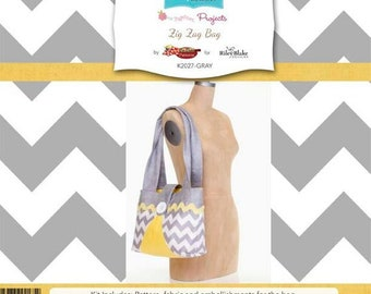 Zig Zag Bag CLEARANCE - Sew Together Project by Riley Blake Designs - SALE