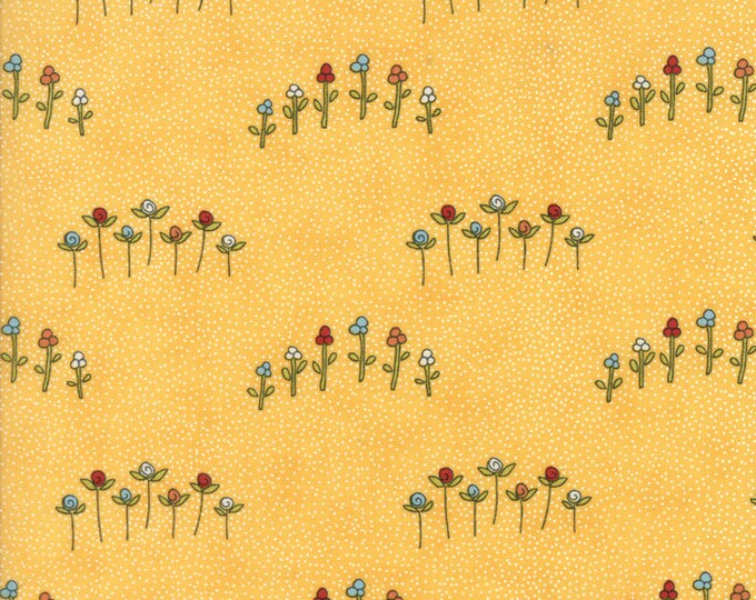 Treehouse Club (5632 13) Wildflowers Daisy by Sweetwater - 3/4 yard remnant piece
