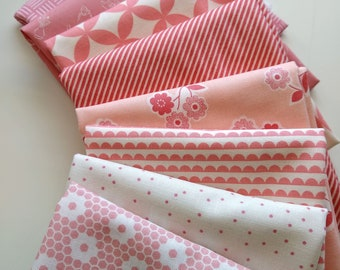 Stitches FQ Bundle - Pink/Blush Fat Quarters - (8) FQs - Custom Fat Quarter Bundle - Pretty Pink Fabrics