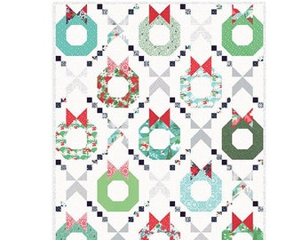 """Merry and Bright Quilt Kit - 50 1/4"""" x 62 3/4"""" Quilt - Aurora fabric by Kate Spain. - Free Shipping"""
