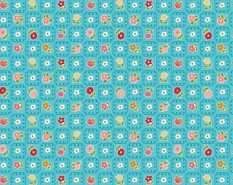 Granny Chic Blue Garden by Lori Holt (Bee in My Bonnet) (C8521 BLUE) - Riley Blake Designs - Lori Holt Granny Chic
