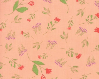 The Front Porch Peach Rose Bed by Sherri and Chelsi - 1 yard piece - SALE!!  (37541 12)